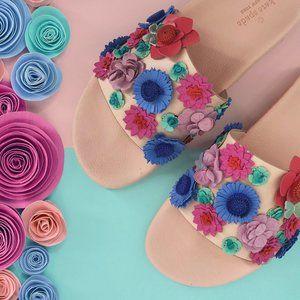 NEW🌸KATE SPADE Skye Floral Pink Pool Slide Sandal